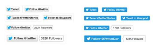 Rediseño botones Twitter